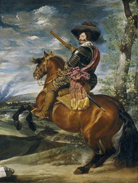 Conde duque de Olivares. Velázquez. Prado.