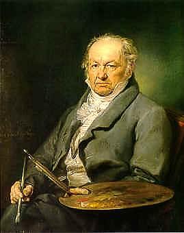"""""""Retrato del pintor Francisco de Goya"""", pintado en 1826 por Vicente López, actualmente se encuentra en el Museo del Prado (Madrid)."""