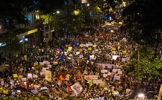 Protestas en Rio