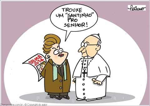 Viñeta de dilma y francisco