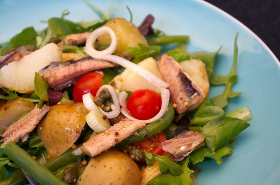 Ensalada judias verdes sardinas