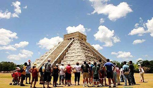 Turistas en México