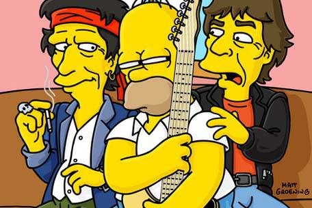 Mick Jagger Simpsons