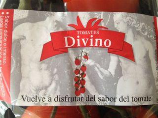 Etiqueta de la marca Divino, donde se reseña su larga conservación