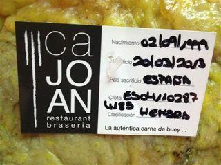 Ficha de control de Ca Joan
