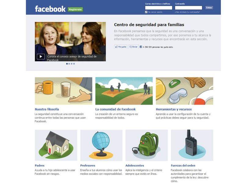 Centro seguridad familias Facebook
