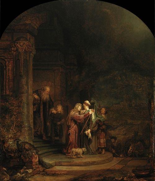 17-Rembrandt Harmensz van Rijn  The Visitation (27.200)