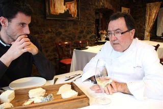 Con Pedro Morán