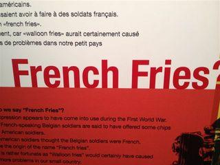 La expresión que trae de cabeza a los belgas. ¿Si las patatas fritas son suyas por qué en el mundo anglosajón se conocen de este modo?