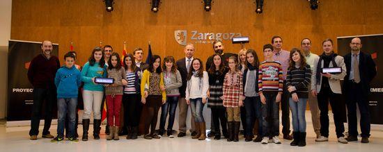 Estudiantes de Colegio de Educación Infantil y Secundaria La Jota de Zaragoza