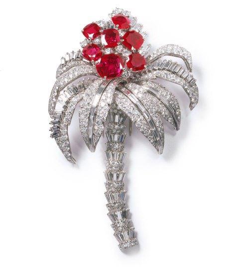 Cartier broche-clip-palmera