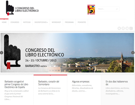 Página web del Congreso del Libro Electrónico