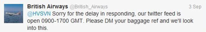 BA siente el retraso y pide DM