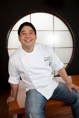 El joven Mitsuharu Tsumura, más conocido por Micha, lider de la cocina nikkei en Lima. Listo, intuitivo, rápido, su cocina sigue creciendo