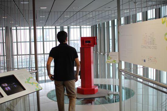 Binoculars to ...and binoculars from... en Linz