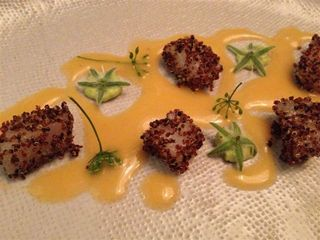 TOMA DE MAR. Conchas, kañihua, tumbo, ostra borraja. Ingredientes obtenidos a 10 metros sobre el nivel del mar.