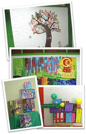 El alumnado utilizo todas sus inteligencias para lograr conocimiento, intentando crear algo singular ¡¡Una obra de arte para su cole!!