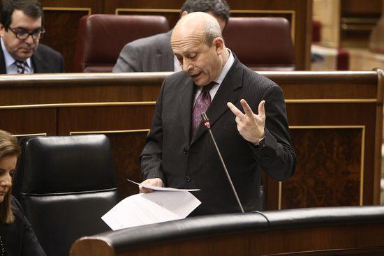 Intervención parlamentaria del ministro Wert