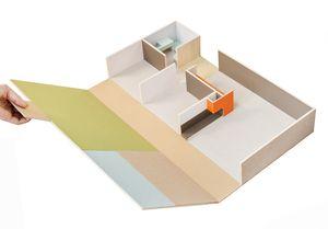 Arquitectura Mini es una casa de muñecas en una caja que se despliega y puede personalizarse