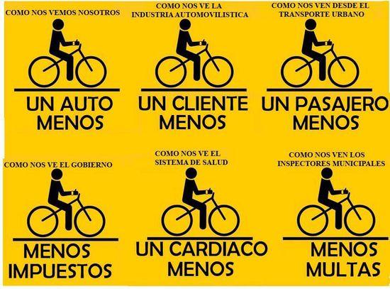 El ciclista estorba