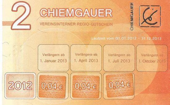 Chiemgauer 2012 face