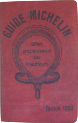 Primera edición de la guiía Michelin Francia en 1900