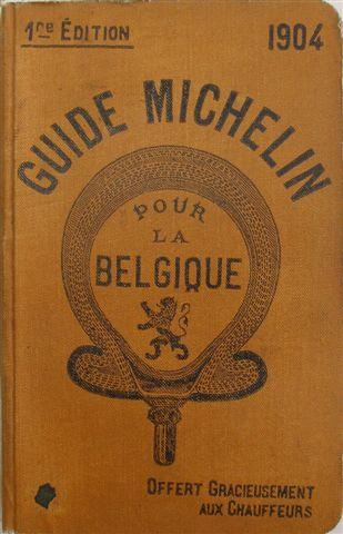 Guía Michelin Bélgica 1904, se pagan 5.000 euros por cada ejemplar