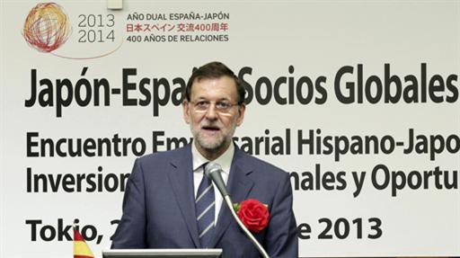 Mariano Rajoy, de visita en Japón.