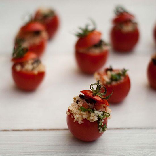 Tomatitos rellenos de bulgur