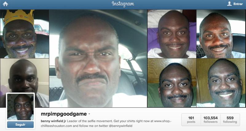 Instagram foto de cara home