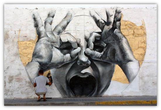 Arte urbano, repineado en Pinterest por Jeanine van der Heijden