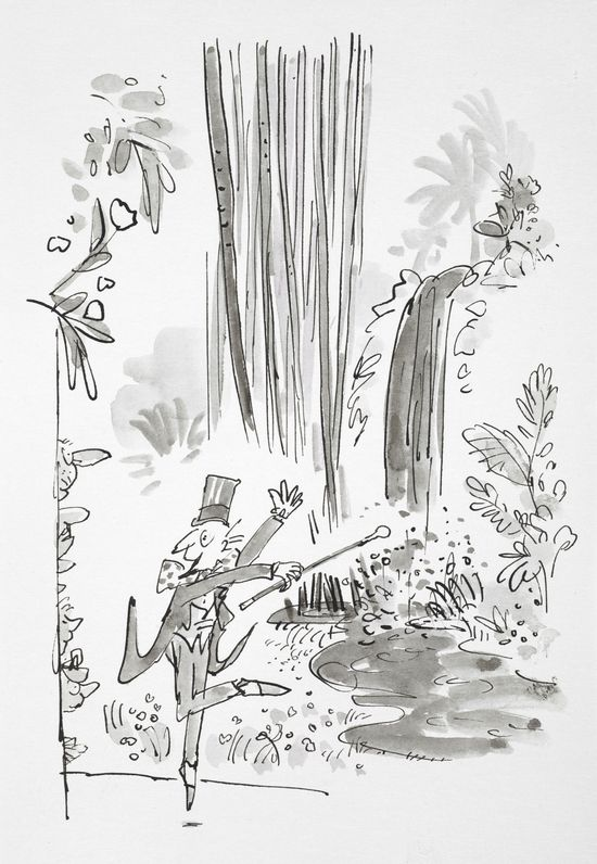 Charlie and the Chocolate Factory by Roald Dahl original artwork, illustrations (c) Quentin Blake