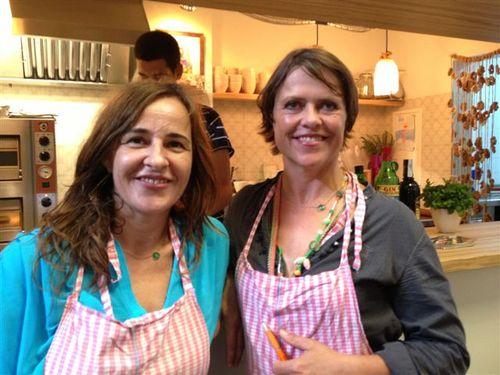 María Solivellas (izquierda) y Katja Wöhr