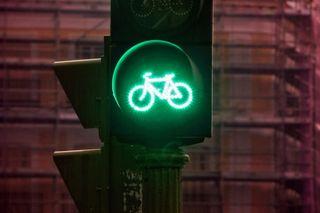 Semáforo para bicicletas. Cristobal Manuel.
