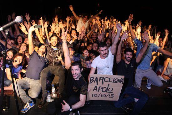 Final de la gira de Mashrou3 Leila, el pasado jueves en Barcelona (HORACIO CABILLA)