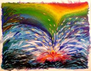 Entre el caos y la ilusión. Obra de Ana Calderón