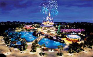 Imagen simulada de Disneyland Shanghái, que se prevé abra en 2015.