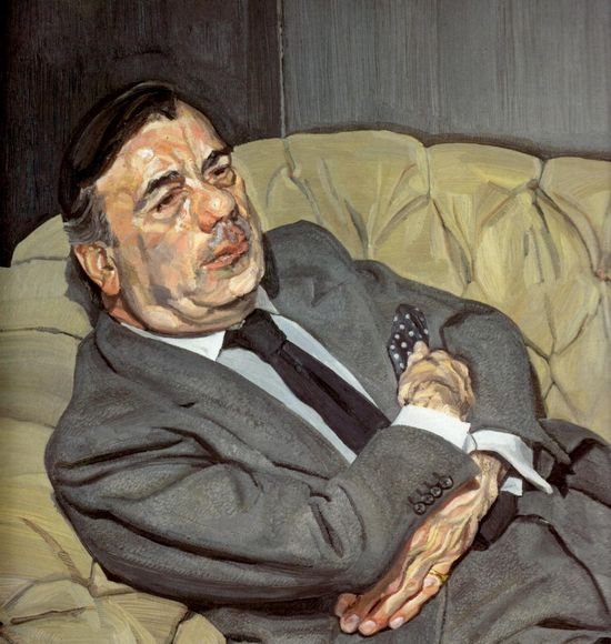 Lucian Freud guy-half-asleep-1982