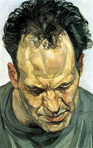 Lucian Freud Retrato de Frank Auerbach