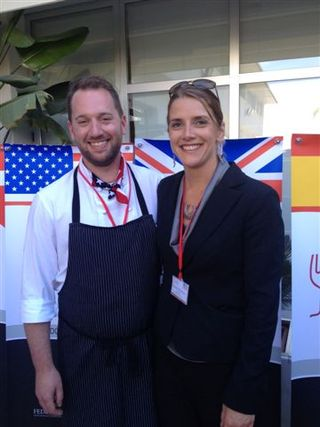 El equipo de Estados Unidos, el cocinero Scott Jones y la sumiller Melodie Reynolds