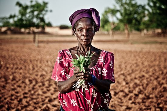 Mujer campesina de Burkina Faso