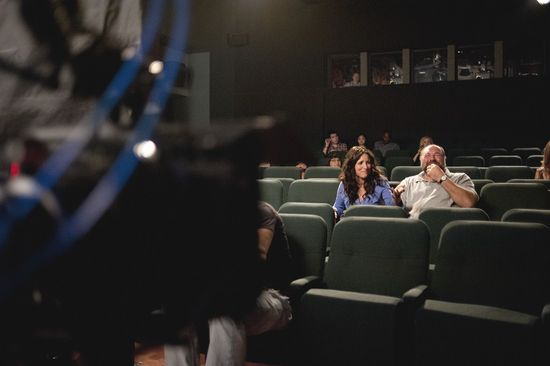 Louis-Dreyfus y Gandolfini durante el rodaje./ FOX