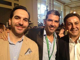 Mario Sandoval, Paco Roncero y Pepe Ribagorda, presentador