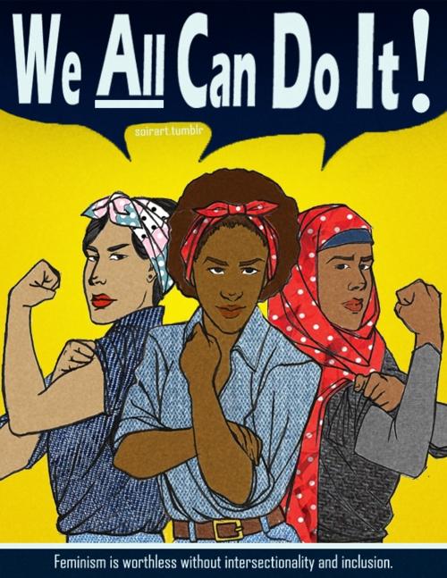Cartel feminista creado por Chelsea Valentin Brown