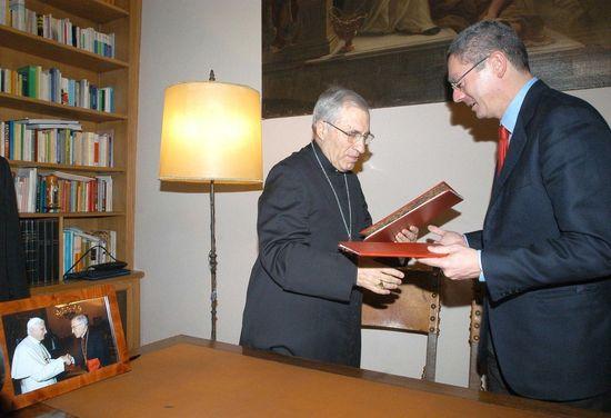 Antonio María Rouco Varela y Alberto Ruiz-Gallardón / Foto: Ayuntamiento de Madrid