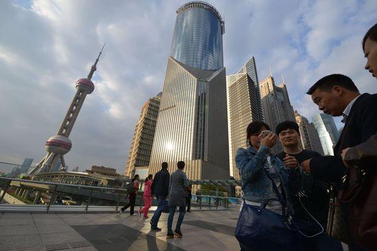 Distrito financiero de Shanghai.