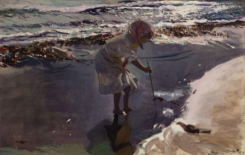 9034 Sorolla, Buscando mariscos