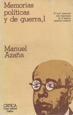 Libro Memorias Azaña