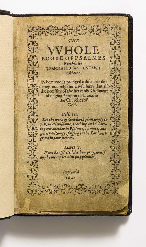 9039 Bay Psalm Book, Title White