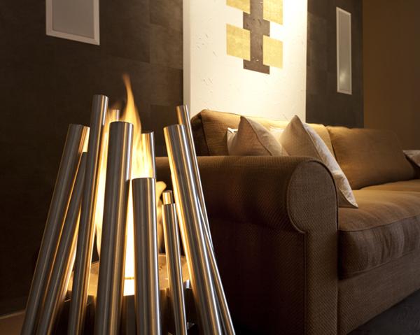Vuelve el fuego al hogar en tu casa o en la m a for Chimeneas de bioetanol de diseno